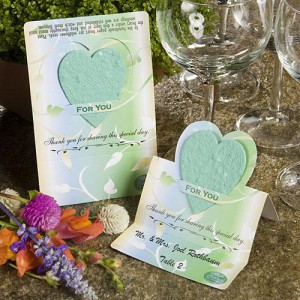 Unique Wildflower Seed Favors - Green