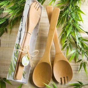 Natural Selections Collection Bamboo Wood Salad Sets