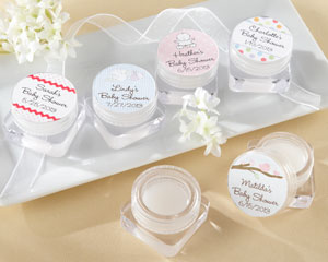 """SWEET KISSES"" PERSONALIZED LIP BALM - BABY SHOWER"