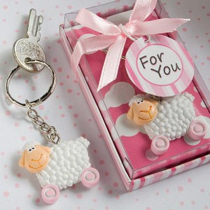 UN-BAA-LIEVABLE BABY COLLECTION PINK TOY SHEEP KEY CHAINS