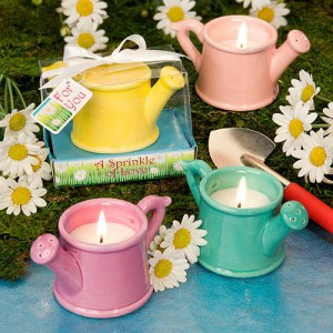 FLORAL FAVOR COLLECTION WATERING CAN CANDLES
