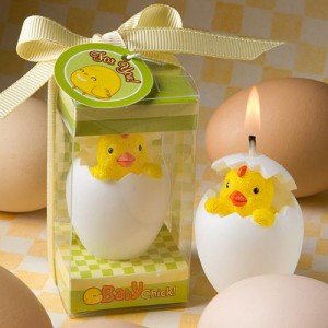 BABY'S BIG DAY COLLECTION HATCHING CHICK CANDLES