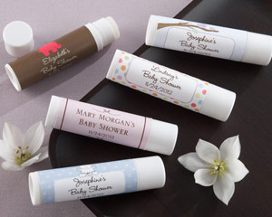 love kisses personalized lip balm stick baby shower