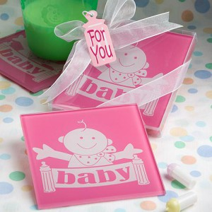 coaster baby favors