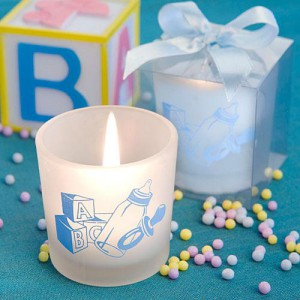 candle baby favor