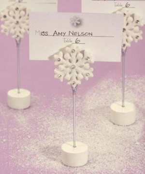 winter place card holders
