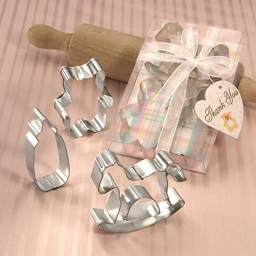 BABY-MOTIF SET OF THREE COOKIE CUTTERS