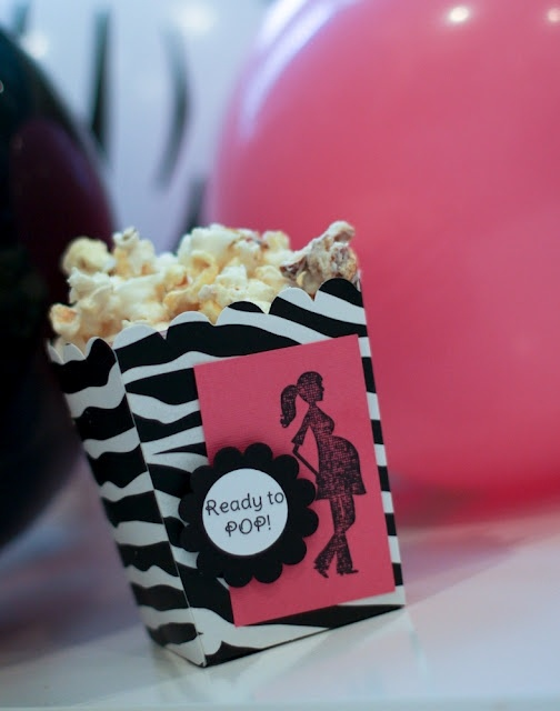 Baby Favor Box filled with Popcorn