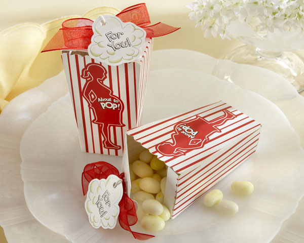 """ABOUT TO POP!"" POPCORN FAVOR BOX"
