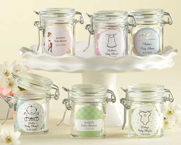 PERSONALIZED GLASS FAVOR JARS - BABY SHOWER