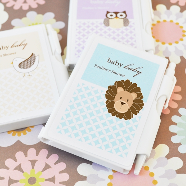 BABY ANIMALS PERSONALIZED NOTEBOOK FAVORS
