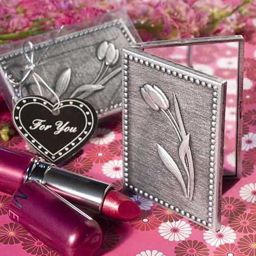 FLORAL DESIGN COMPACT MIRROR FAVORS