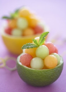 Lime Cups of Fruit