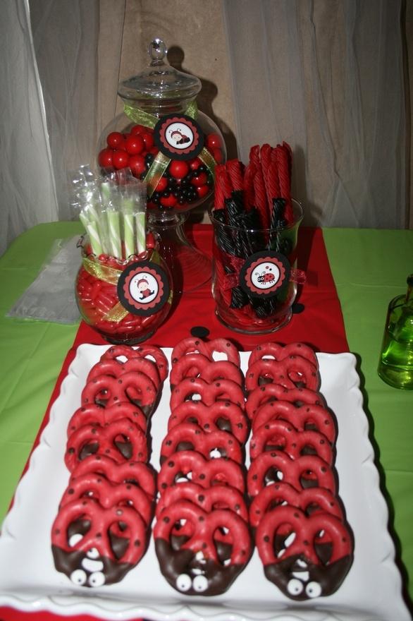 LadyBug Theme Red and Black Treats