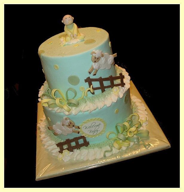 Baby Animal Theme Cake
