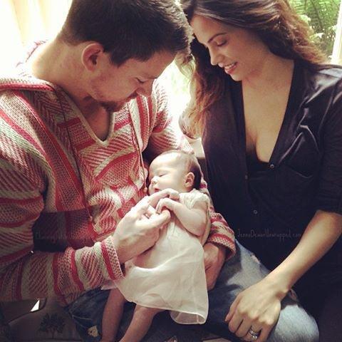 Everly Tatum with Channing Tatum and Jenna Tatum