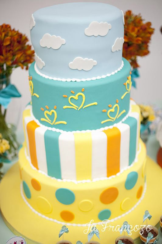 Pampers theme Baby shower cake