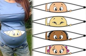 Peeking Baby Maternity Shirt