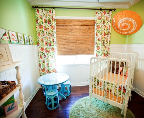 Green and Orange Nursery Color Scheme
