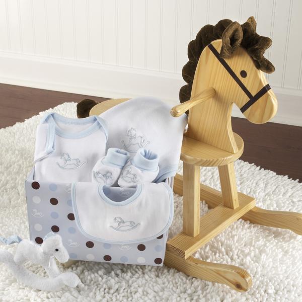 Personalized Baby Gift Baskets Rocking Horse : Quot rockabye baby personalized rocking horse with plush toy