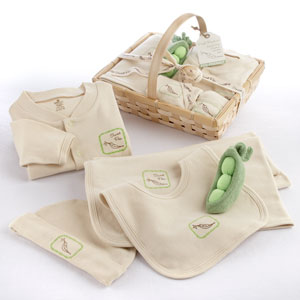 """Fresh Produce"" Sweet Pea Five-Piece Organic Layette Set wedding favors"