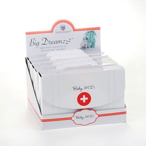 """Big Dreamzzz"" Baby M.D. Three-Piece Layette Set in ""Doctor's Bag"" Gift Box wedding favors"