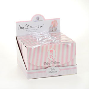 """Big Dreamzzz"" Baby Ballerina Two-Piece Layette Set in ""Studio"" Gift Box wedding favors"