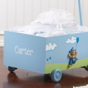 """Welcome to the World"" Blue Baby Wagon - Ten-Piece Gift Set (Personalization Available) wedding favors"