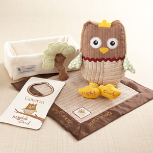 """My Little Night Owl"" Five-Piece Baby Gift Set wedding favors"