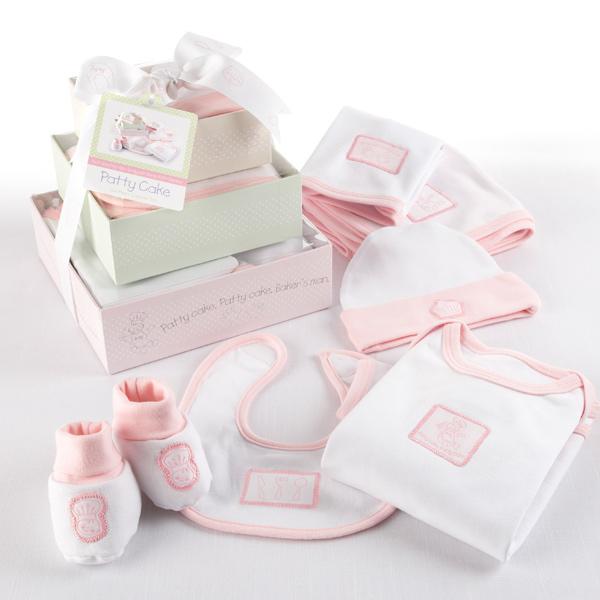 Baby Gift Set Packaging : Quot patty cake six piece layette set in keepsake gift box