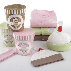 """Sweet Dreamzzz"" A Pint of PJ's Sleep-Time Gift Set, Chocolate wedding favors"