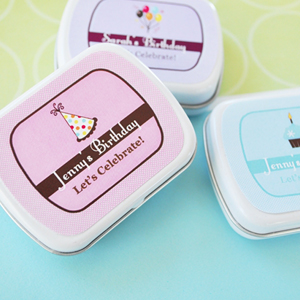 Personalized Birthday Mint Tins  wedding favors