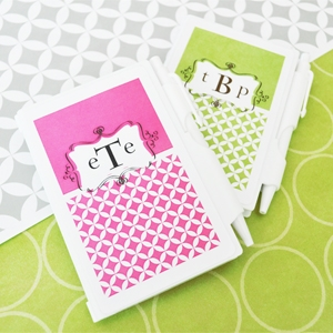 Mod Monogram Personalized Notebook Favors  wedding favors