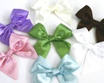 Satin Bows baby favors