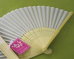 Silk Fan baby favors