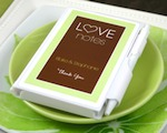 "Personalized ""Love Notes"" White Notebook Favors baby favors"