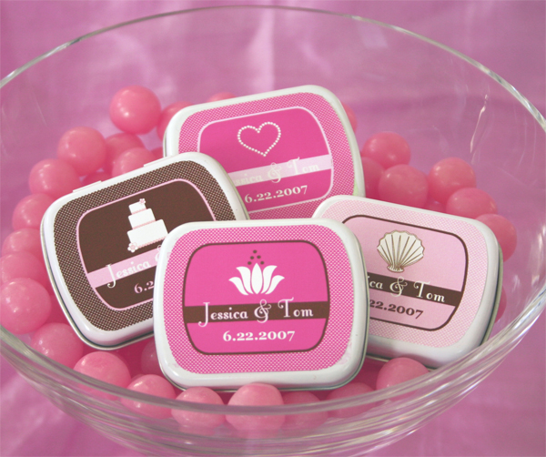 Theme Mint Tins wedding favors