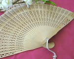 Sandalwood Fan   baby favors