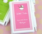 "Personalized ""Little Notes"" Notebook Favors baby favors"