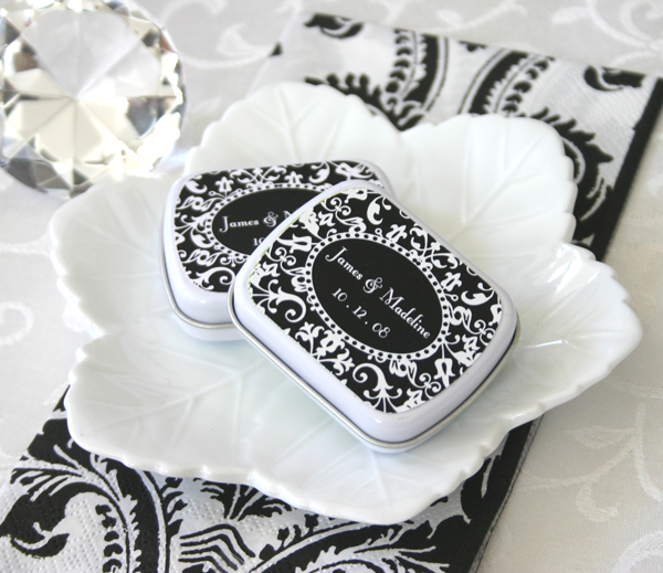 Damask Mint Tins wedding favors