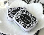 Damask Mint Tins baby favors