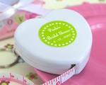 """Measure Up Some Love"" Heart Tape Measure baby favors"