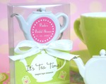 """It's Tea Time!"" Teapot Tape Measure baby favors"