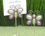 """Love is Aflutter"" Butterfly Place Card Holders baby favors"