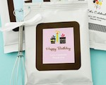 Personalized Birthday Hot Cocoa + Optional Heart Whisk  baby favors