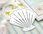 """A Jewel From the Sea"" Seashell Bookmark baby favors"