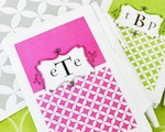 Mod Monogram Personalized Notebook Favors  baby favors