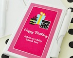 Personalized Birthday Notebook Favors  baby favors