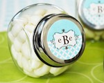 Mod Monogram Candy Jars  baby favors
