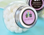 Personalized Birthday Candy Jars  baby favors